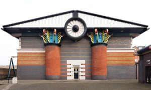 'We had a lot of fun and games' … John Outram's grade II*-listed pumping station on London's Isle of Dogs.