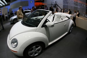 A Beetle convertible at the 100th Los Angeles auto show in 2006.