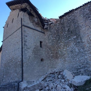 Another scene in Norcia. The quake was centred 6km north of the central Italian town.
