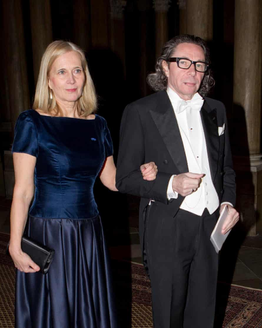 Jean-Claude Arnault with his wife, the poet Katarina Frostenson, in 2011
