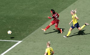 Thailand's Kanjana Sung-Ngoen scores on a breakaway.