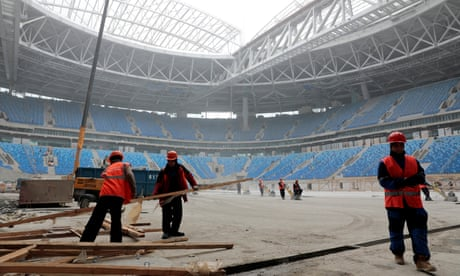 Fifa 'has come up short' in protecting Russia 2018 stadium workers