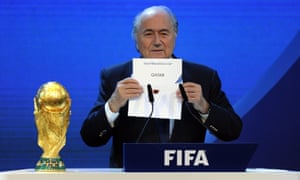 Fifa's Sepp Blatter gives Qatar the 2022 World Cup