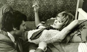 Oliver Reed and Marianne Faithfull in the 1967 film I'll Never Forget What's 'Is Name, directed by Michael Winner.