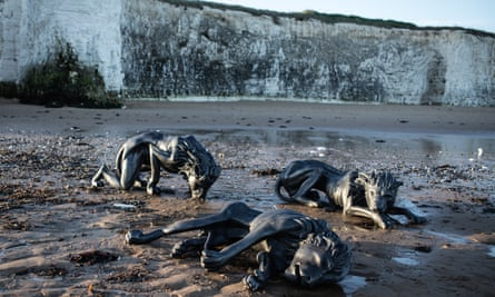 The Pride of Brexit, on a beach below the White Cliffs of Dover.
