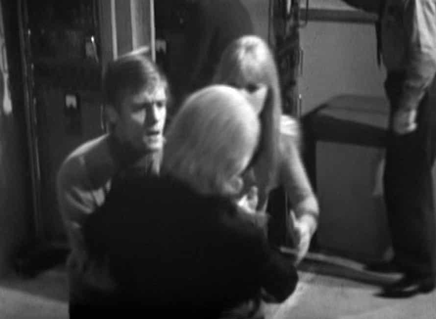 Ben (Michael Craze) and Polly (Anneke Wills) catch a body double for William Hartnell, as 'The Doctor' collapses at the opening of part three of 'The Tenth Planet'
