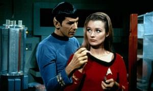 Leonard Nimoy and Diana Muldaur in Star Trek (1966).