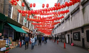 Chinatown in London on Saturday: traders report it as being uncharacteristically quiet.