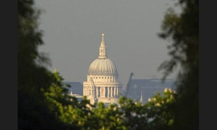 View of St Paul's before construction of the tower started.