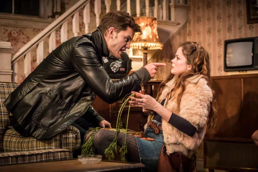 Strong performances … Jeremy Irvine as Vince and Charlotte Hope as Shelly.