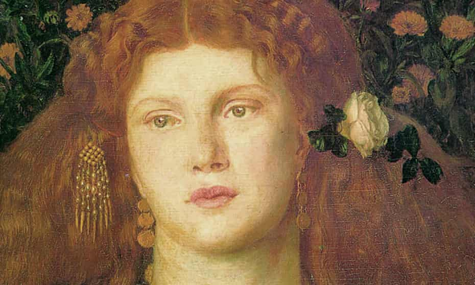 Bocca Baciata depicting Fanny Carnforth's 'kissed mouth' marks a radical departure in Rossetti's art from a decade earlier.