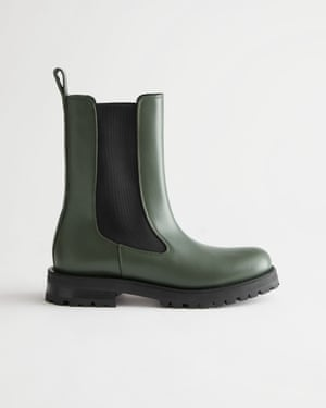 Chunky Sole Leather Chelsea Boots £165, stories.com