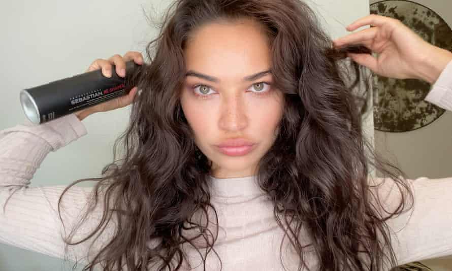The Australian model, Shanina Shaik, does her own hair under the guidance of the renowned hairdresser Sam McKnight. Roitfeld noted models' DIY hair and make-up skills.