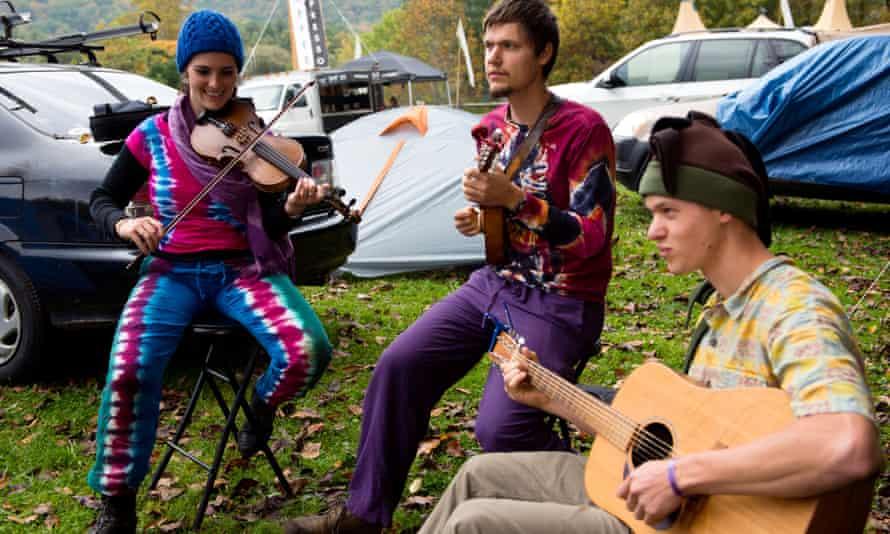 'A sphere that brings together folk' … Leaf festival at Black Mountain, North Carolina.