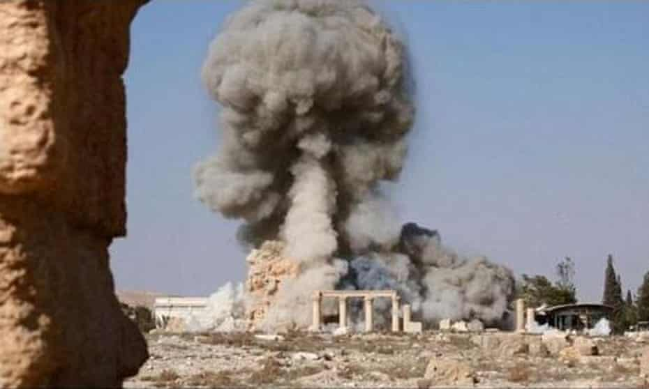 The explosion that destroyed Baal Shamin on August 25