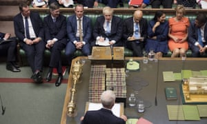 Jeremy Corbyn and Boris Johnson face each other in the House of Commons