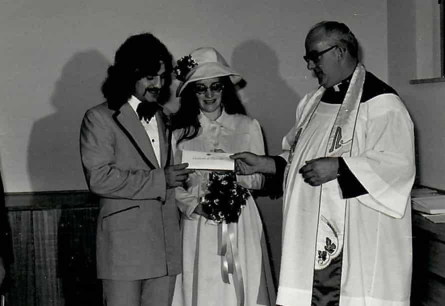 Nunzio and Maureen Gambale at their wedding ceremony