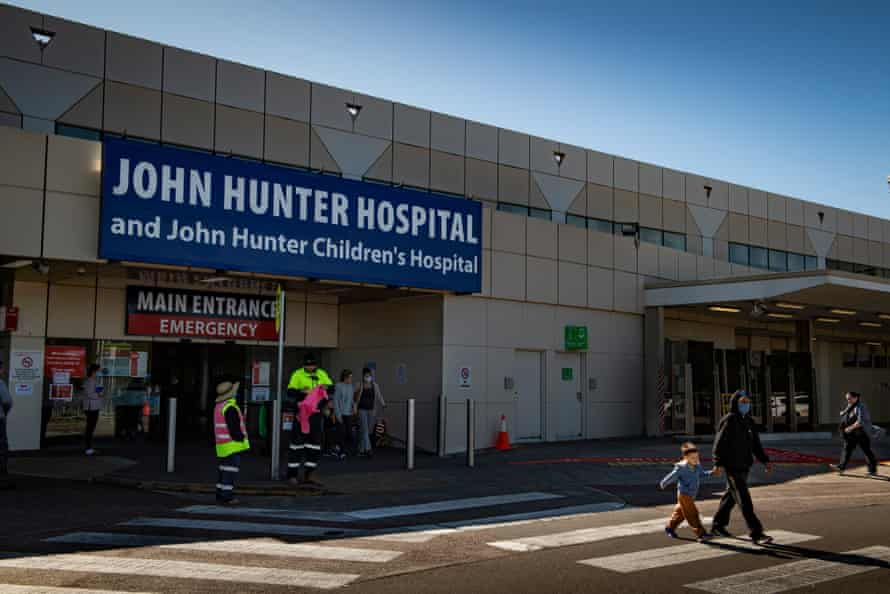 John Hunter Hospital, where Chantelle Doyle is recovering from a shark attack