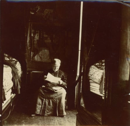 Madame Vuillard in her room in Sallenelles (Normandy), 1905, photographed by Édouard Vuillard.
