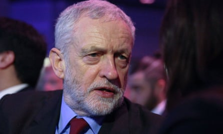 Labour party leader Jeremy Corbyn at the Holocaust Memorial Day service