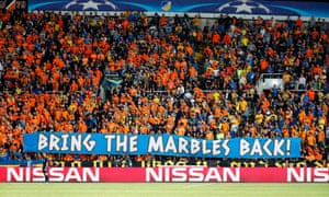 Apoel FC fans make their feelings known at a Uefa cup match against Tottenham Hotspur at the GSP Stadium in the Cypriot capital, Nicosia.