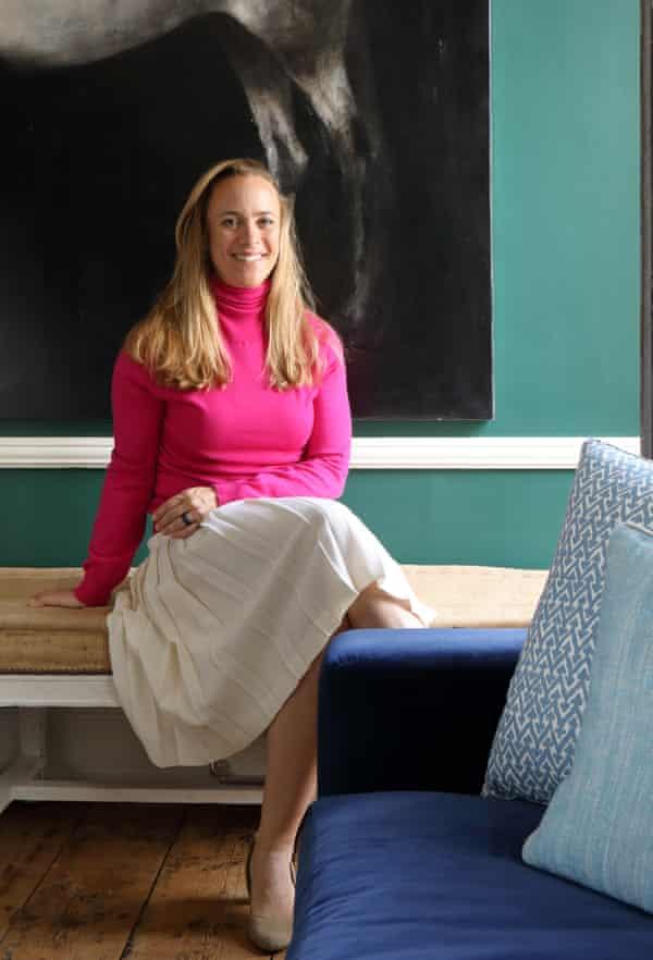 Ana Engelhorn in the living room.