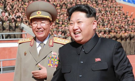 North Korean leader Kim Jong-un alongside Ri Yong-gil