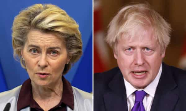 Boris Johnson and the European Commission President Ursula von der Leyen spoke on the phone on Saturday.