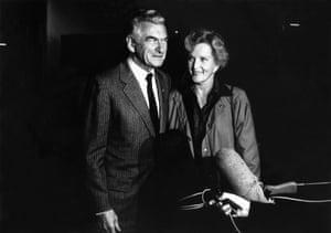 Hawke with his wife Hazel