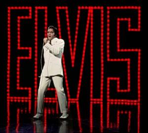 Electrically alive … Elvis Presley in 1968.