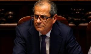 Giovanni Tria, Italy's under pressure economy minister