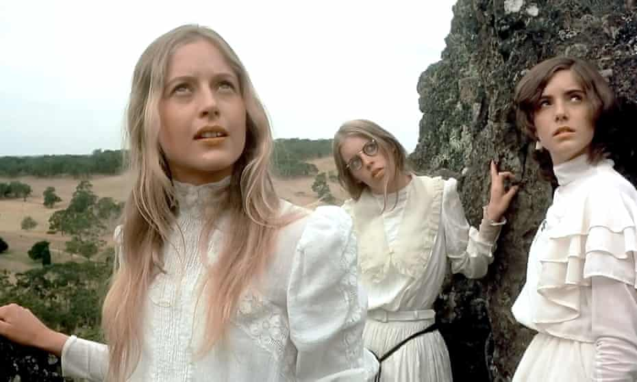 Anne Louise Lambert, left, in the 1975 film version of Picnic at Hanging Rock