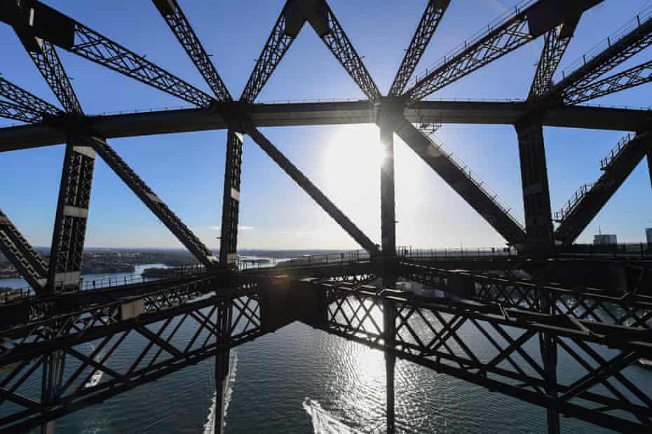 Empty staircases on the Sydney Harbour Bridge