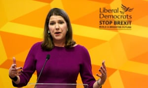 Liberal Democrat Leader Jo Swinson gives a speech in Westminster entitled 'The Problem with Boris Johnson'. on November 28.