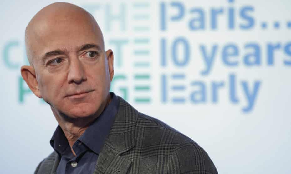 Jeff Bezos, founder and chief executive of Amazon has seen his wealth increase from $70bn to $185bn.