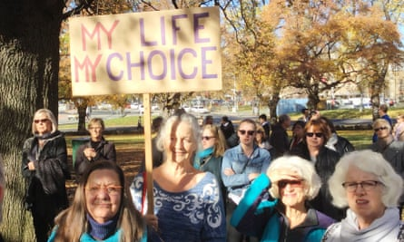 Assisted dying protest