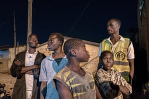 Night patrol to identify street children in Togo