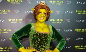 Heidi Klum dressed as Fiona from Shrek