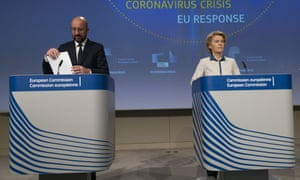 President of the European Council Charles Michel and  Ursula von der Leyen, president of the European Commission