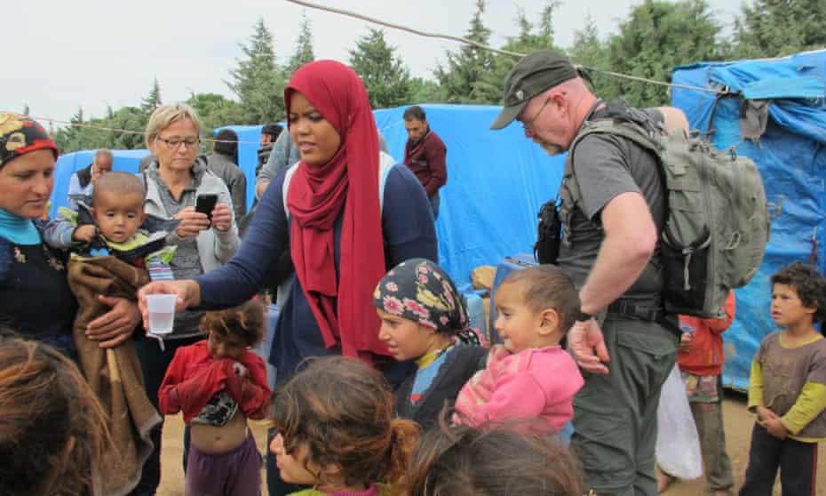 Nadira Babji, a 24-year-old doctor from Malaysia, at a camp near Greece's border with Macedonia.