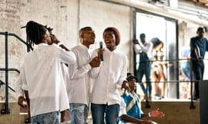 Singers at Pretoria's Social Market