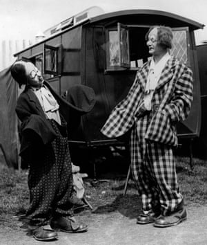Coco the Clown with his son, Michael.