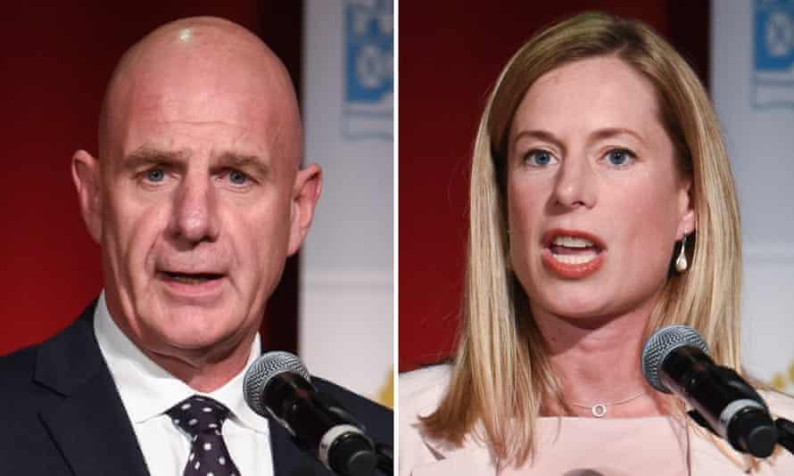 Tasmanian Premier Peter Gutwein (left) and opposition leader Rebecca White.