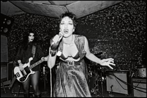 The Bags, 1978. Alice Bag sings and snarls. Pat Bag later played in the Gun Club and the Damned.