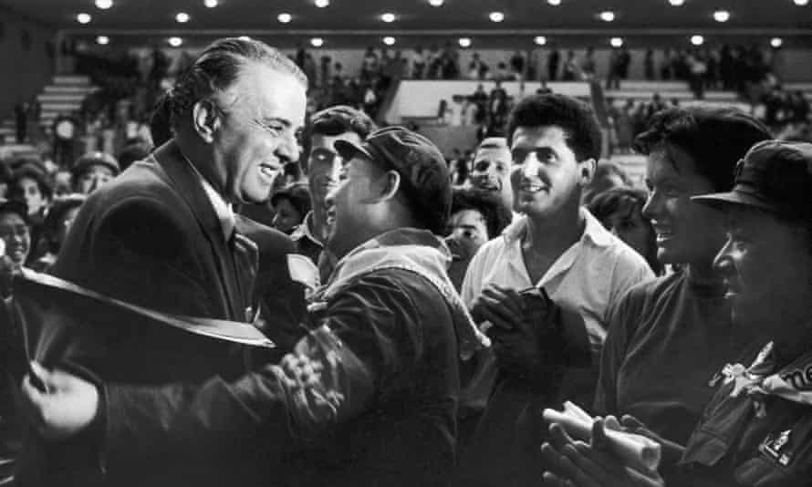 Albanian leader Enver Hoxha with China's Yao Wenyuan in 1967.