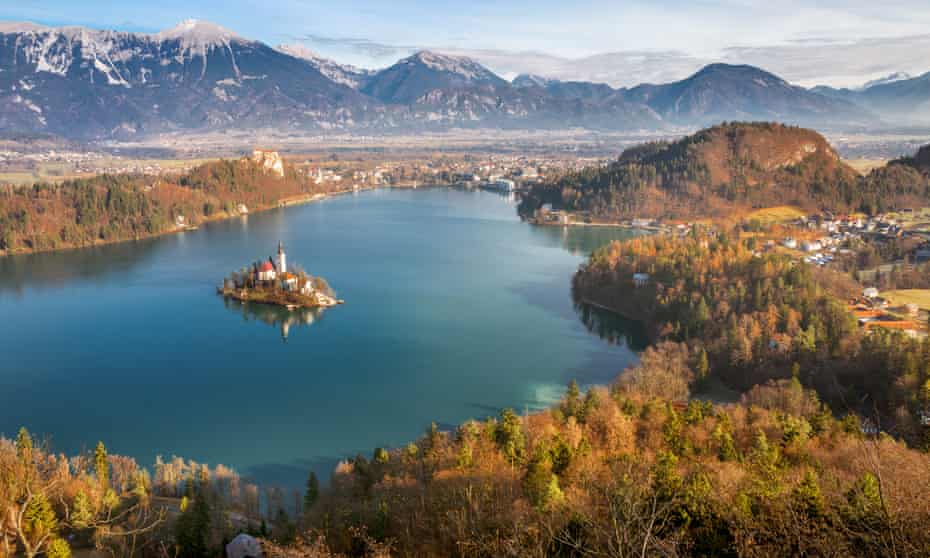 View of Bled Lake and Island from Osojnica Hill, Bled