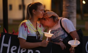 A candlelight vigil held to remember victims.