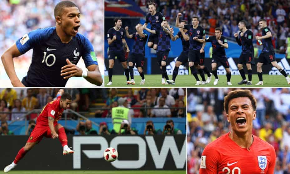 Kylian Mbappé, the Croatia players, Dele Alli and Eden Hazard are all still dreaming of a place in the World Cup final.