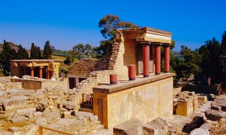 Palace ruins at Knossos, Crete.