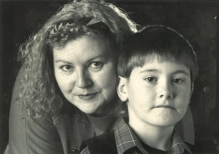 Joel Golby with his mother, Hazel, in the mid-90s.